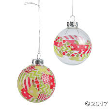 washi ornament idea