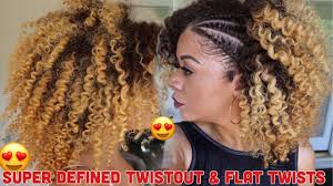 Chunky Flat Twist Hairstyles by Super Defined Twist Out U0026 Flat Twists Curly Hair Natural Hair