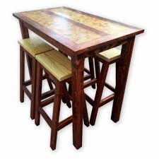 dining room wood tables next solid mango wood dining table and four kobe rattan room se