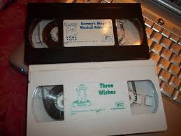 Barney Three Wishes Video On by Vhs Tape Lot Barney The Dinosaur Magical Musical Adventure Three