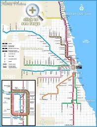 chicago map with attractions chicago metro map travelsfinders