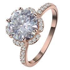 silver zirconia rings images 4 carat big cubic zirconia rings silver rose gold color austrian jpg