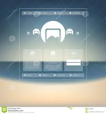 simple free web templates simple basic website template design with icons stock vector royalty free vector