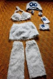 abominable snowman costume yeti hat abominable snowman big costume ski cap fleece lined