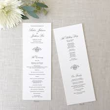 ceremony programs black tie wedding programs paperwhites wedding invitations