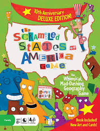 Usa Geography Map Games by Amazon Com Scrambled States Toys U0026 Games