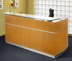 Wood Reception Desk Napoli Modern Wood Reception Desk Nrs By Mayline