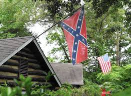 Alabama Yard Flag Flying And Fighting The Confederate Flag In Anne Arundel County