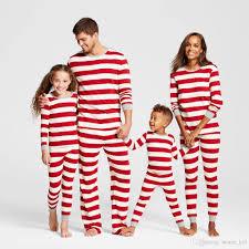 matching family pajamas striped nightwear baby kid