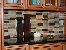 Mexican Tile Backsplash Kitchen by Black Countertops With Brown Kitchen Cabinets High Quality Home Design