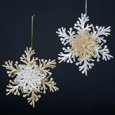 chagne gold silver snowflake ornament item 101829 the