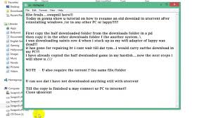 resume a format how to resume a download in utorrent after re installing win 100 how to resume a download in utorrent after re installing win 100 working