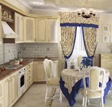Contemporary Kitchen Curtains And Valances by Kitchen Bay Window Curtain Ideas Dining Table The Middle Room