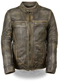 motorcycle leathers amazon com men u0027s distressed brown leather scooter jacket w