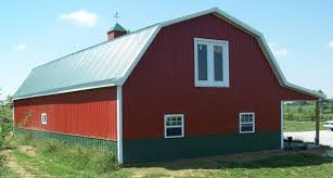 gambrel roof barns indiana pole barns options