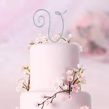 monogram cake toppers silver rhinestones monogram cake topper wedding cake toppers