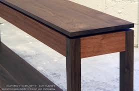 Walnut Sofa Table by Manali Collection Floating Elements In Modern Furniture