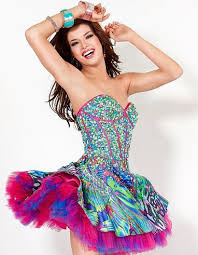 colorful dress colorful homecoming dresses high fashion update