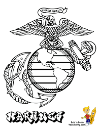 marine corps logo colouring pages throughout marine coloring pages