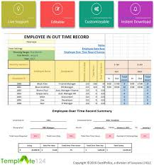 Excel Template For Timesheet Employee Overtime Template Excel Timesheet Template124