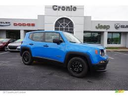 2015 Sierra Blue Jeep Renegade Sport 103241080 Gtcarlot Com
