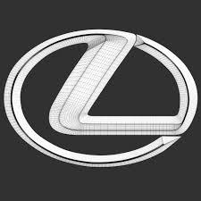 lexus logo vector lexus logo by niosdark 3docean