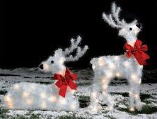 Christmas Reindeer Garden Decorations light up standing white reindeer outdoor christmas decoration