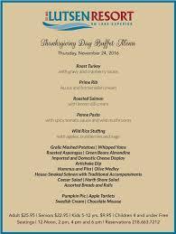 thanksgiving day buffet lutsen resort on lake superior