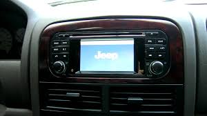 grand cherokee in dash gps touchscreen youtube