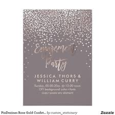 Engagement Party Pinterest by Pixdezines Rose Gold Confetti Engagement Party Card Weddings