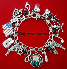themed charm bracelet guns n roses themed charm bracelet guns and roses ebay