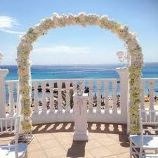 wedding flower arches uk the most beautiful wedding flowers in ibiza confetti co uk