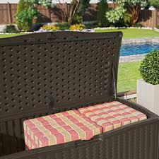 suncast resin 124 gal deck box java bj u0027s wholesale club