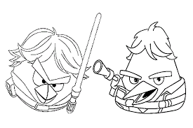 angry birds star wars coloring pages free coloring