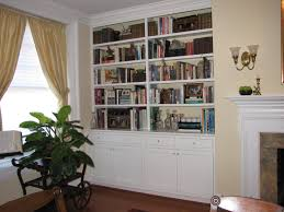 built in bookcase with doors best shower collection