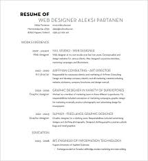 Web Design Resume Template Designer Resume Template U2013 9 Free Word Excel Pdf Format