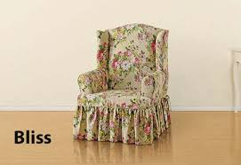 Slipcover Wing Chair Chair Slipcover In Beautiful Floral Juliet By Waverly