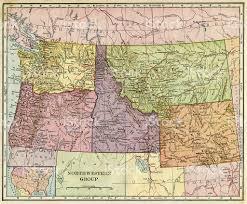 road map northwest usa northwest united states map map northwestern states map