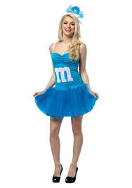 m m costume womens m m blue party dress costumes