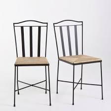 chaises en fer forgé chaise fer forgé assise paille lot de 2 acheter ce produit au