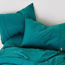 kip u0026co emerald mauve storm cotton jersey duvet cover