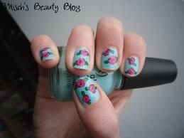 rose nail art cute nails