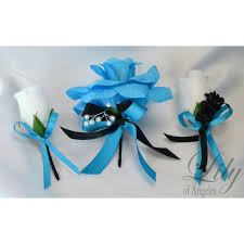turquoise corsage turquoise malibu black teal bouquets corsages boutonnieres