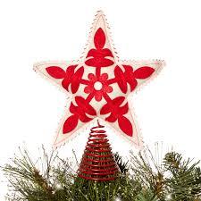 debenhams red felt star christmas tree topper at debenhams com