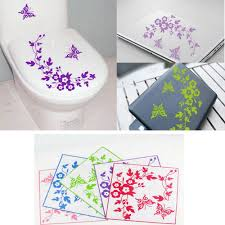 aliexpress com buy fashion original butterfly flower bathroom aliexpress com buy fashion original butterfly flower bathroom toilet laptop wall decals sticker special home decoration sticker from reliable wall decals