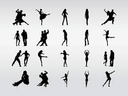dancers silhouettes vector art u0026 graphics freevector com