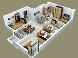 floor plan in 3d 3 bedroom design fresh design small 3 bedroom house plans