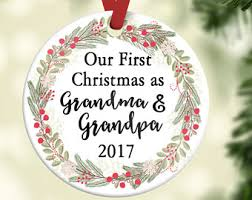 grandparent christmas ornaments grandparent ornament etsy