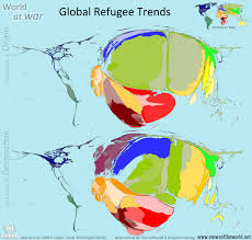 Map Of The World Countries World At War Global Refugee Trends Views Of The World