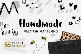 handmade brush pattern collection patterns creative market